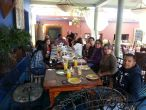 Enjoying breakfast at the Restaurante La Coronela Hotel California