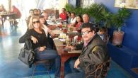 The whole group breakfast at Restaurant La Coronela Hotel California